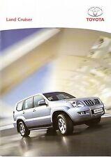 Prospekt / Brochure Toyota Land Cruiser 10/2004
