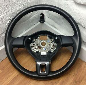 Genuine Volkswagen Polo 6R Mk7 Mk5 black leather steering wheel    16A