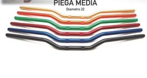 STERZO PIEGA MEDIA ACCOSSATO VARI COLORI MANUBRIO MOTO 22mm ACCOSSATO RACING
