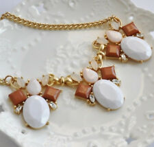 White and Earth Tone Statement Necklace Chucky Bib Necklace J crew inspired