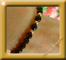 9 carat gold 375 Bracelet with 6mm Faceted Onyx