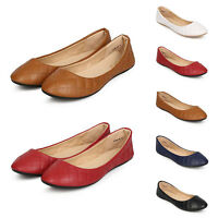 Women's Slip On Quilted Faux Leather Round Toe Ballet Flat Diamond Pattern Shoes