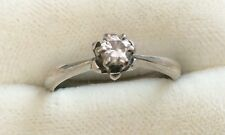Vintage 18ct White Gold Ladies Good Sized Diamond Solitaire Ring