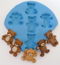 TEDDY BEARS SILICONE MOULD FOR CAKE TOPPERS, CHOCOLATE, CLAY ETC