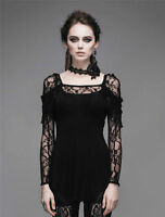 Devil Fashion Sexy Women Rock Black Lace goth punk Top tshirt Blouse Cosplay New