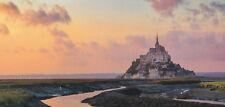 XXL-Ansichtskarte: die Kirchenburg Mont Saint-Michel, Normandie, Frankreich