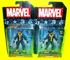 DEADPOOL ERROR! Marvel Infinite Series X-men Pair ACTION FIGURES Missing SWORDS!