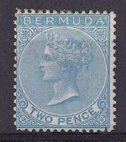 DB189) Bermuda 1866 2d Dull Blue, SG 3