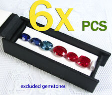 6 PCS OF CARRY DISPLAY BOX SHOW GEMSTONE ORGANIZER HOLDER (4.3x1.5 INCH) 1 Row