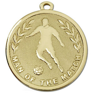 1/10/25/50/100 Football Man of the Match Medals with FREE RIBBONS 51 COLOURS!