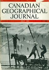 1953 Canadian Geographical Journal Magazine July: Fishing with Horse & Ladder