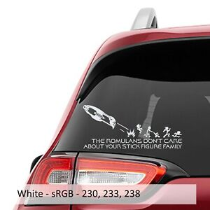 The Romulans Don't Care About Your Stick Family Decal