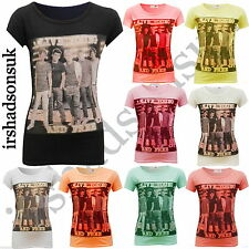 "NUOVO Ragazze One Direction ""Live young and FREE"" Manica Corta FASHION T SHIRT 7-13y"