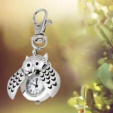 Ring Double Open Quartz Alloy Analog Fashion Pocket Fob Watch Mini Metal Key