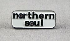 METALLO SMALTO SPILLA BADGE SPILLA Northern Soul NS Musica Rettangolo BAR