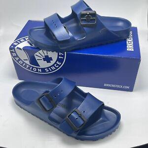 BIRKENSTOCK ARIZONA ESSENTIAL EVA SANDAL BLUE Size  38 Women's 7 Mens 5