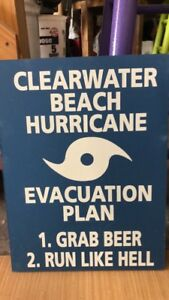 BLUE HURRICANE BEER EVAC PLAN ‼️