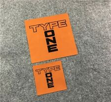 10cm & 7cm Spoon Sports TYPE ONE Racing Decal Sticker Accord Civic Integra S2000
