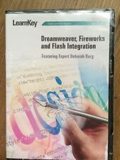 LearnKey Dreamweaver, Fireworks and Flash Intergration Course 2006 CD ROM NEW