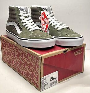 New Vans Sk8-Hi Tapered Grape Leaf Green True White Sneakers Men 7.5 Women 9.0
