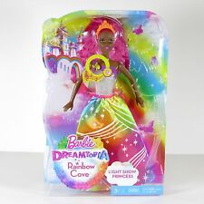 Barbie Dreamtopia Rainbow Cove Light Show Princess African American 2015 MIB