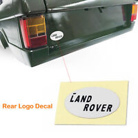 Rear Logo Decal Sticker Decoration Part for CChand 1/10 Range Rover Classic Body