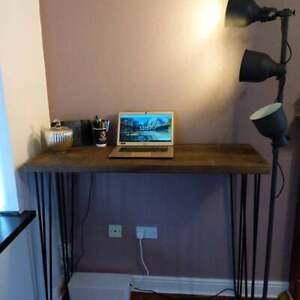 Hairpin Desk - Computer Desk with Steel Hairpin Legs- Reclaimed Wooden Desk