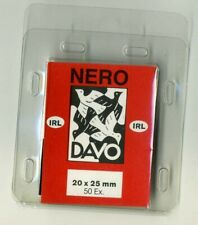 2 Pack Davo Nero Stamp Mounts 20mm X 25mm (fit Ireland Definitive) Pack of 50
