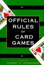 Official Rules of Card Games A. Morehead 1996 Paperback Gambling Book Dice Poker