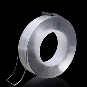 Nano Magic Tape Double Sided Traceless Washable Adhesive Invisible Gel 1/2/3/5 M