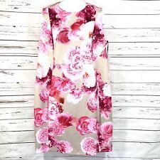 Calvin Klein Women's Sheath Dress Tan Floral KMU Sleeveless Plus Size 22W NWT