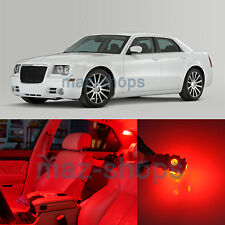 Red 14 Pieces LED Interior Light Package for Chrysler 300 300C 2005 2010
