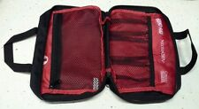 FIRST AID KIT/POUCH/BOX/BAG ONLY EMPTY W/ZIPPER BLACK & RED JOHNSON (EMERGENCY)