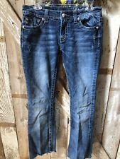 Miss Me Denim Jeans Size 30 Wings/Horseshoe Studded