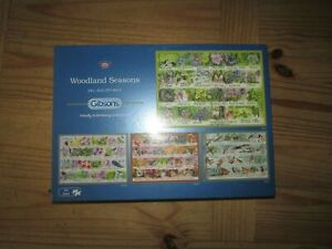Gibsons Woodland Seasons Jigsaw Puzzle (4 x 500 pieces) - NEW  17/4/21