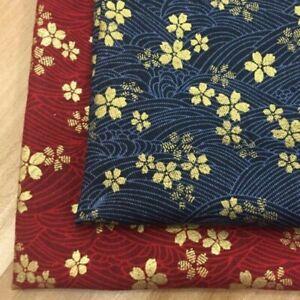 Oriental Fabric Cotton Sakura Print for Kimono Table Cloth Pencil Case DIY Craft