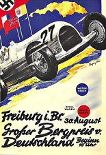 Art Ad Grosser Bergpreis v Deutschland  Freiburg Auto Car Race Deco Poster Print