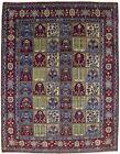 Vintage Rare Floral Garden Design 10X13 Handmade Oriental Rug Home Decor Carpet