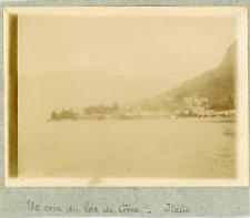 Italie, Un coin du Lac de Côme, ca.1900, vintage citrate print Vintage citrate p
