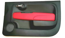 Genuine Brand New Abarth 500 Offside / Right Interior Door Panel Black & Red