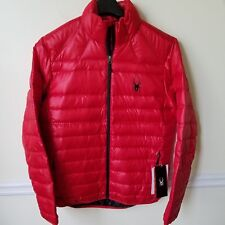 NWT Men's Spyder Puffer Down Prymo Red Warmth and Lightweight Jacket - Size L
