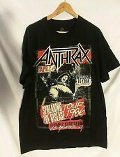 Anthrax Spreading The Disease Tour 2015 Large Black T Shirt New Official Merch