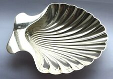 Tiffany & Co Sterling Silver Scalloped Shell Dish 22478 Vintage .925 Nut Bowl
