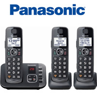 Panasonic KX-TGE633M 3 handset DECT 6.0 Expandable Cordless Phone answering