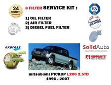 Per Mitsubishi L200 Animal 2.5DT Pickup 96-2007 Filtro Carburante Aria Olio Kit Di Servizio