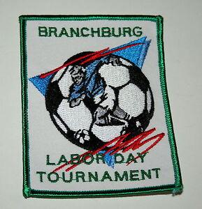3 Soccer Assoc Team Club Branchburg NJ Tourament Sew Patch New NOS 1997