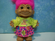 "I'M A BIG SISTER - 5"" Russ Troll Doll - NEW IN ORIGINAL WRAPPER - Pink Hair"