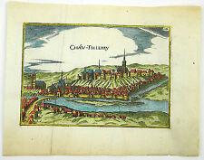Château-Thierry picardía france grabado gravure sur cuivre Tassin 1636 d745s