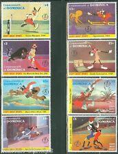 Dominica Disney Goofy Set Scott #1494/1501 Mint Never Hinged Complete
