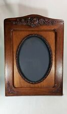 7ae6fe6dd4e Large Antique Ornate Handcarved Solid Wood Oval Picture Frame